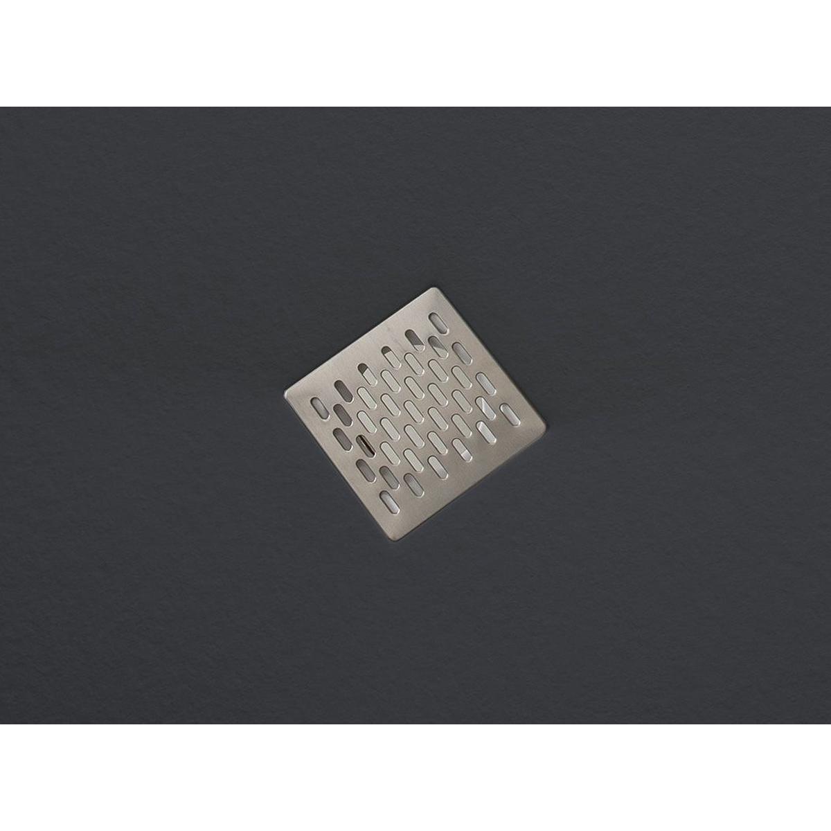 Plato de ducha rectangular 100x80 Coliseo Stone Nox Grafito