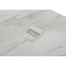 Plato de ducha rectangular 100x80 Mirage Calacatta