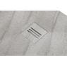 Plato de ducha rectangular 100x80 Mirage Travertino Gris