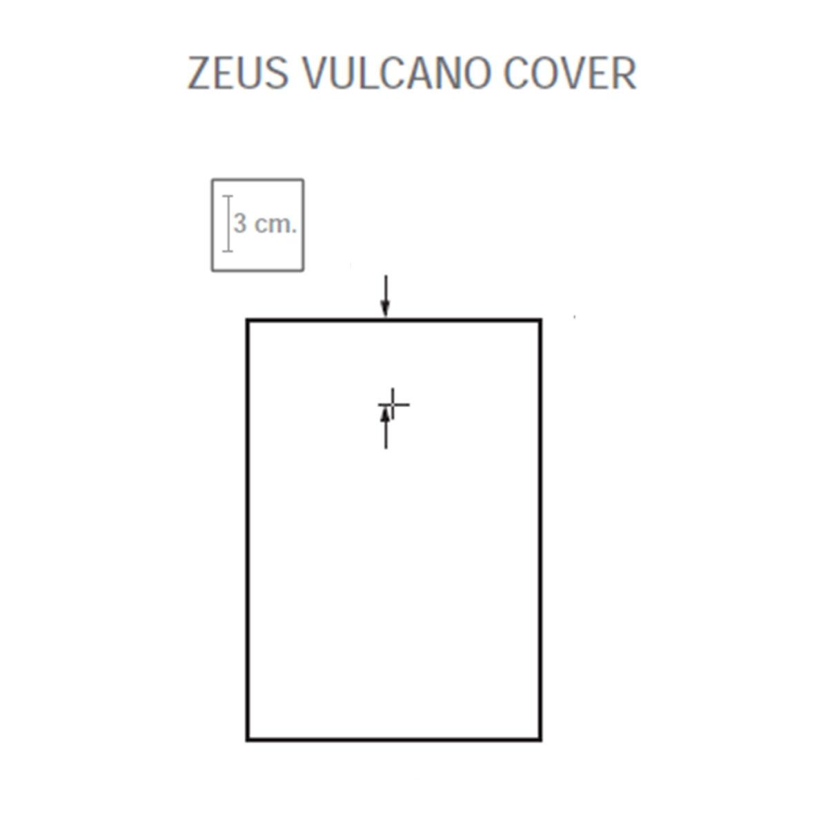Plato de ducha rectangular 100x80 Zeus Vulcano Antracita