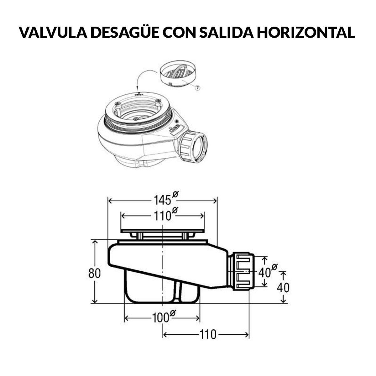 Plato de ducha rectangular 100x80 Zeus Vulcano Grafito