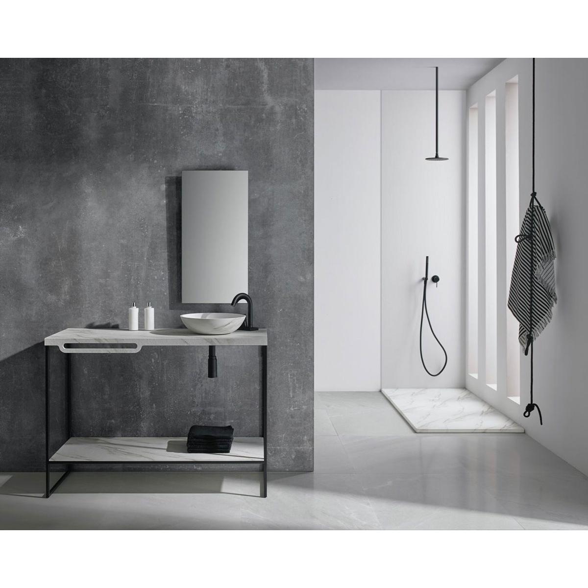 Plato de ducha rectangular 120x80 Mirage Travertino Gris