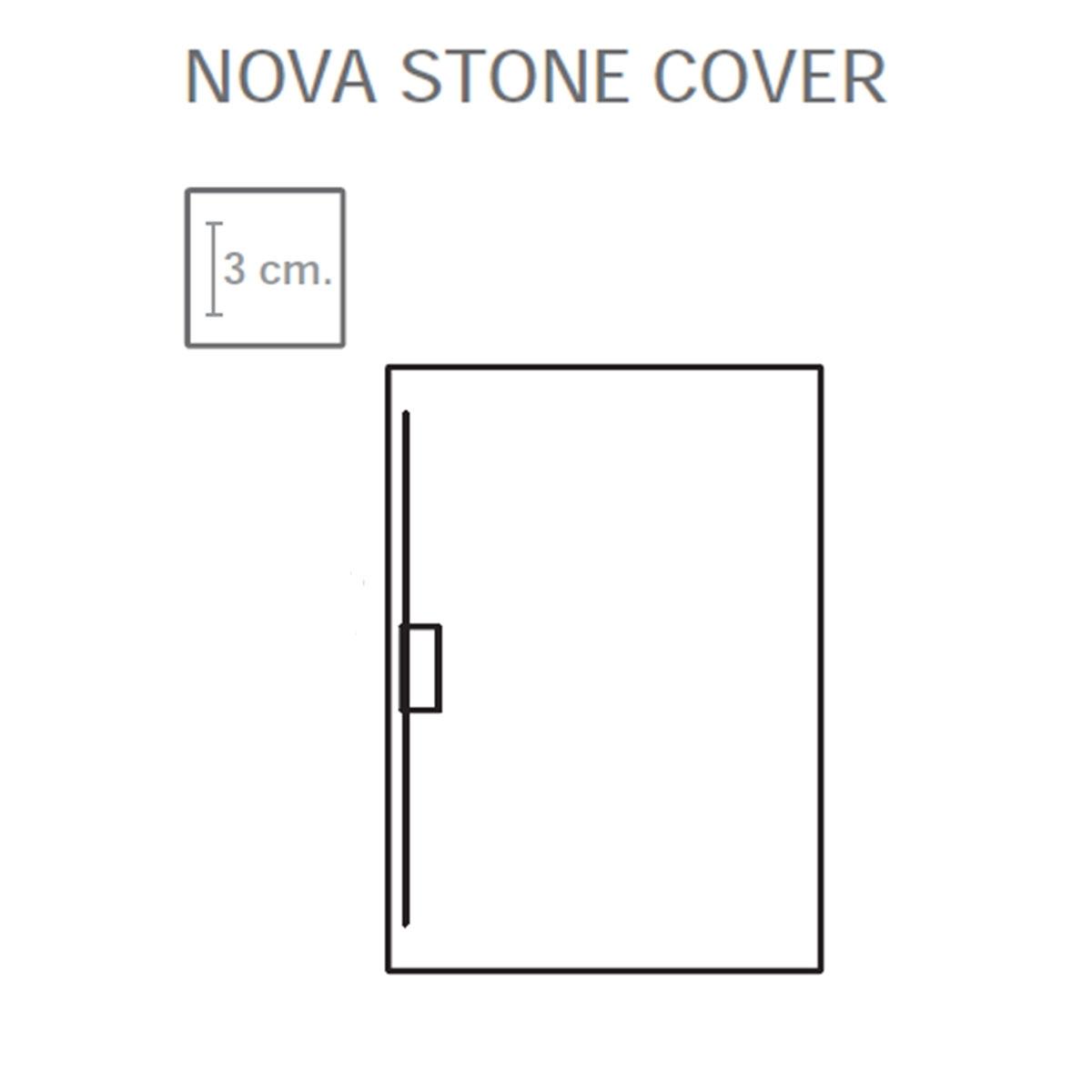 Nova Stone Cover Rectangular Antracita 120x80 cm (ud)