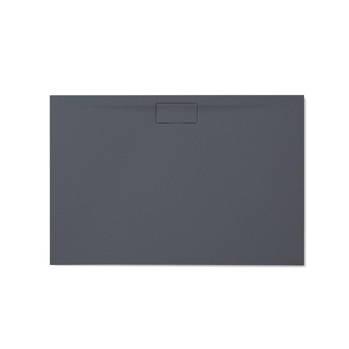 Plato de ducha rectangular 120x80 Nova Stone Cover Basalto