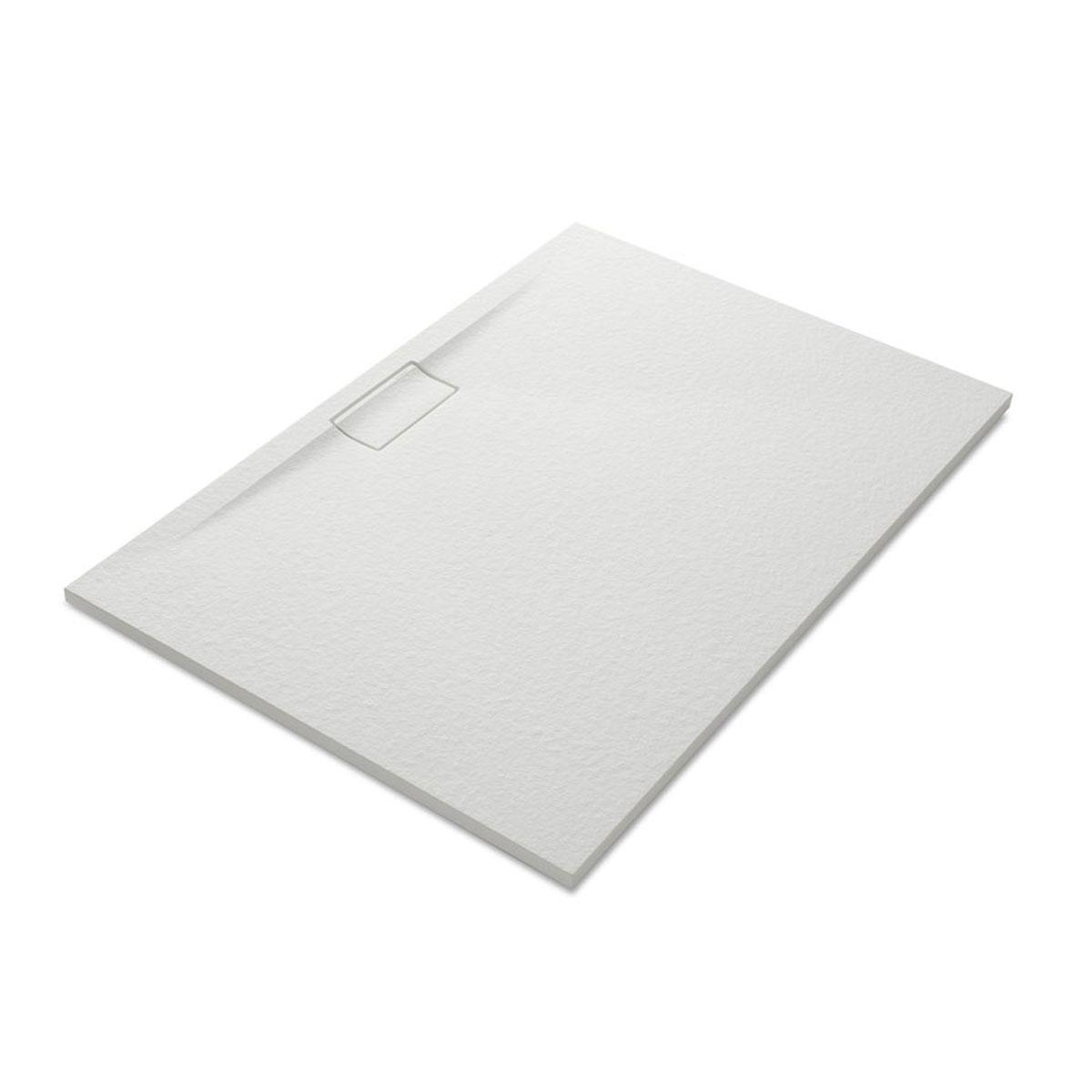 Plato de ducha rectangular 120x80 Nova Stone Cover Blanco