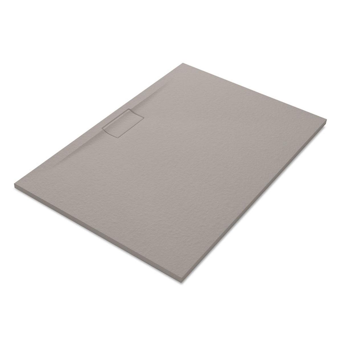 Plato de ducha rectangular 120x80 Nova Stone Cover Fango
