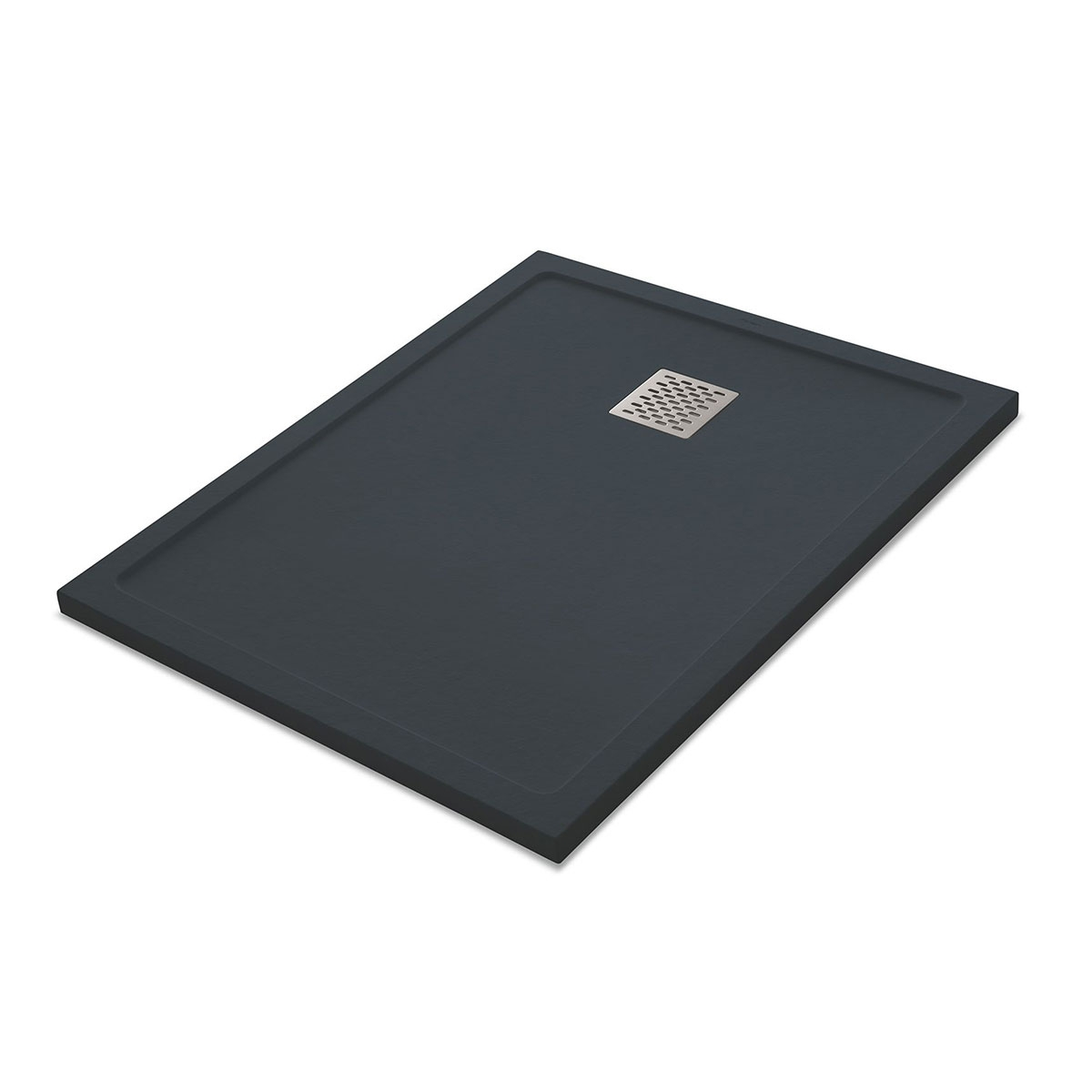 Plato de ducha rectangular 100x80 Ares Stone Nox Antracita
