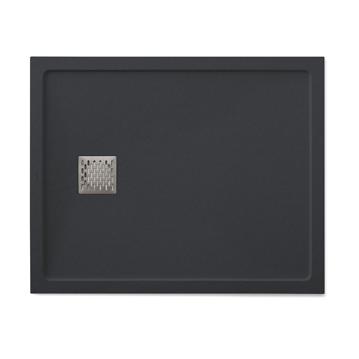 Plato de ducha rectangular 100x80 Ares Stone Nox Grafito