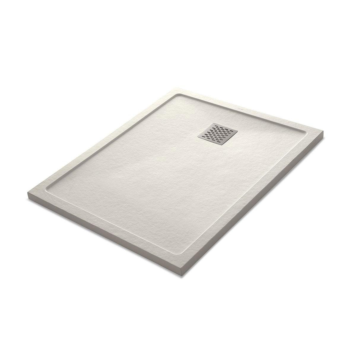 Plato de ducha rectangular 100x80 Ares Stone Nox Beige