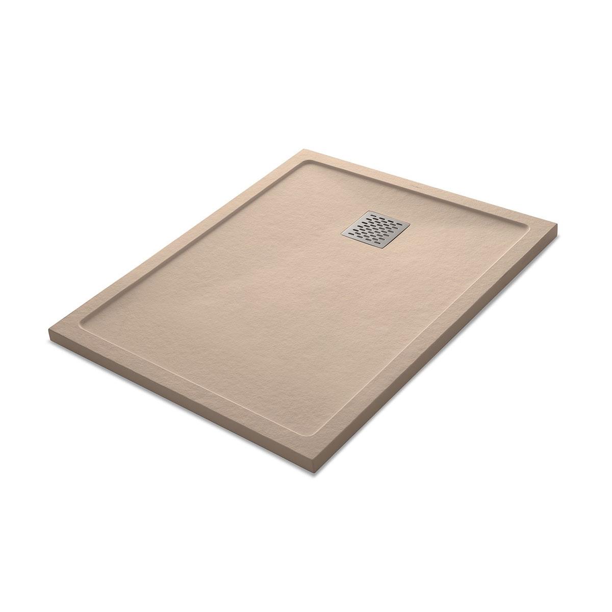 Plato de ducha rectangular 100x80 Ares Stone Nox Cappuccino