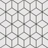 Alhambra Negro 25x25 Keros