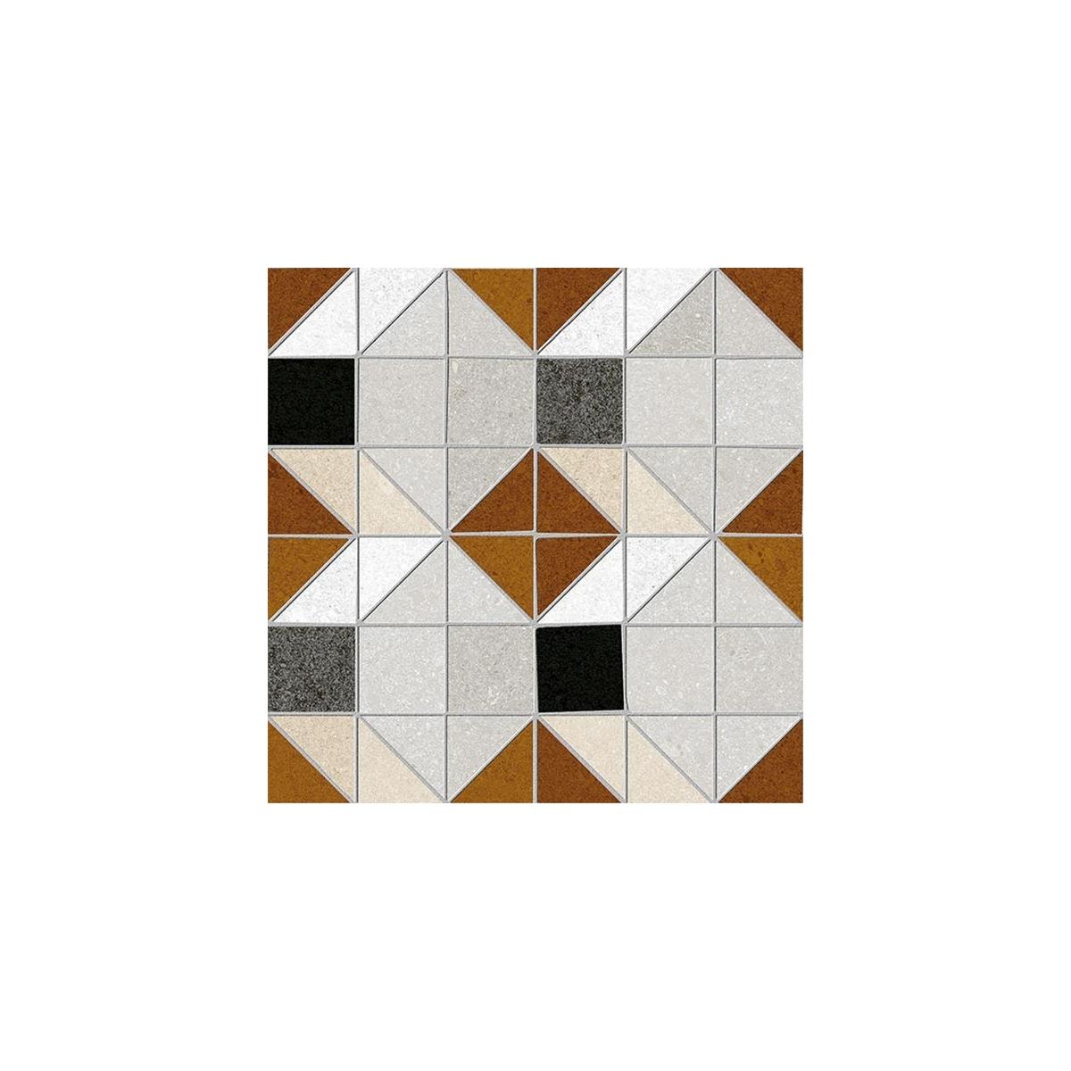Bercy Rojizo 20x20 (m2) - Pavimento hidráulico en gres porcelánico