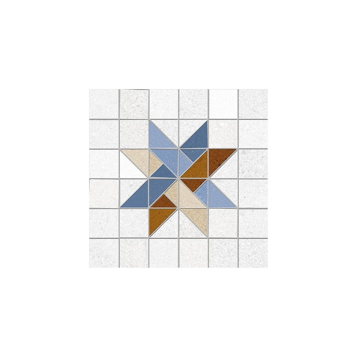 Arcole Azul 20x20 (m2) - Pavimento hidráulico en gres porcelánico