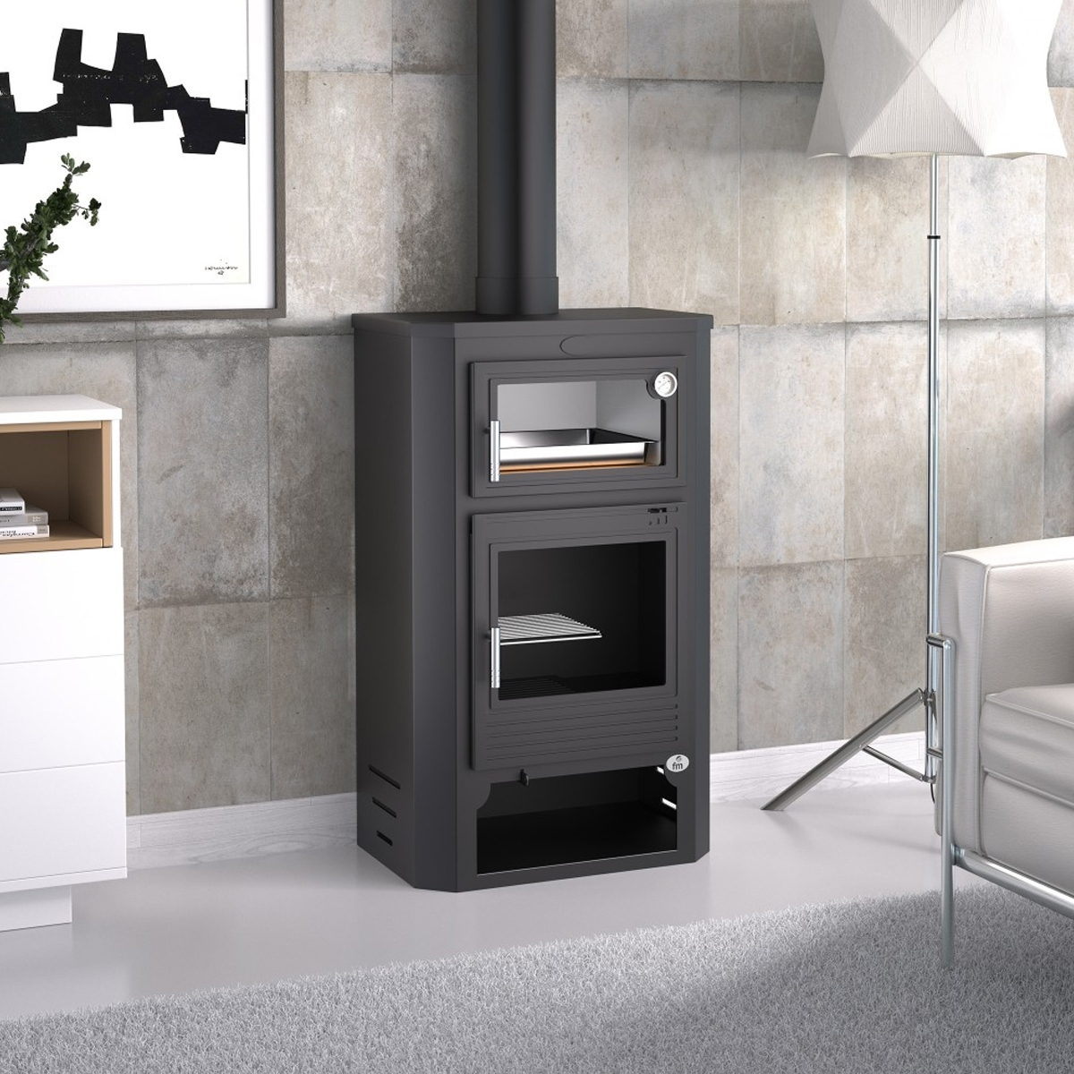 Estufa de leña con horno M-104 + Regalo directo