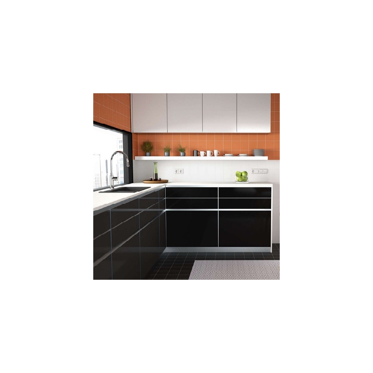 Rainbow Negro 15x15 (m2) Pissano