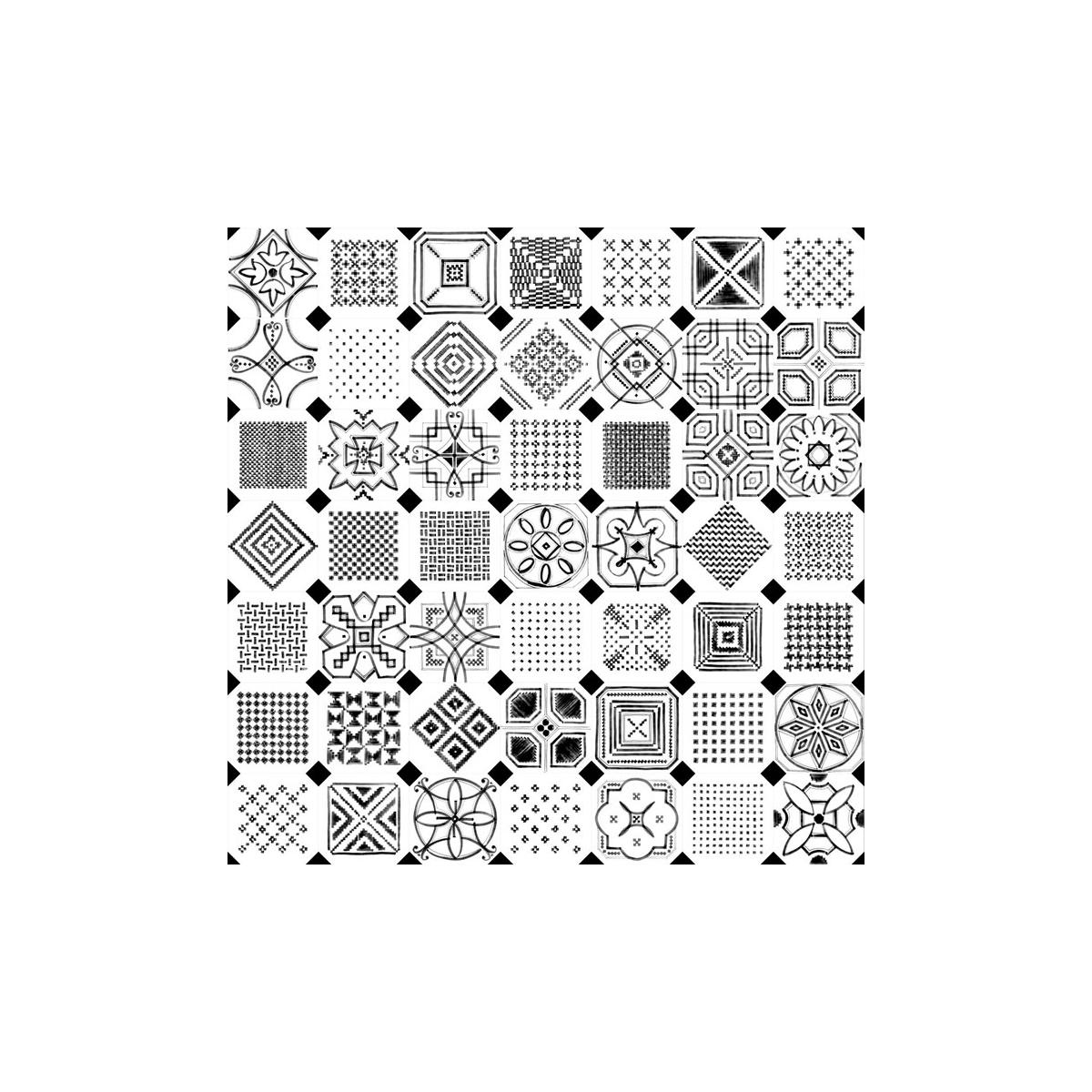 Octógono Variette Sombra 20x20 - Losas hidráulicas Porcelánico antideslizante