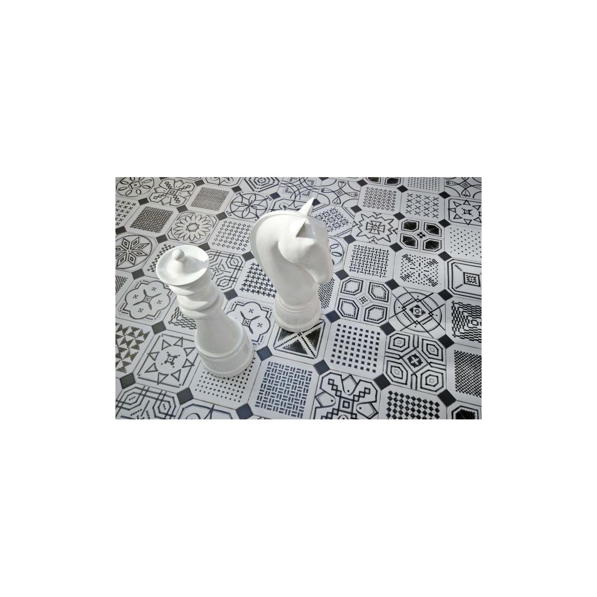 Octógono Variette Sombra 20x20 - Losas hidráulicas Porcelánico antideslizante Vives