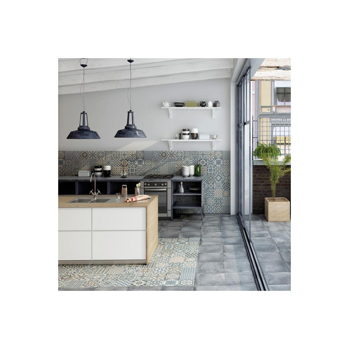Heritage Grey - Pavimento porcelánico hidráulico a precios económicos Gaya Fores S.L.