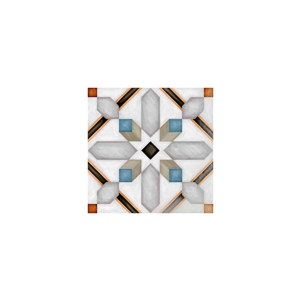 Demel Multicolor 20x20 (m2) - Pavimento hidráulico Porcelánico antihielo