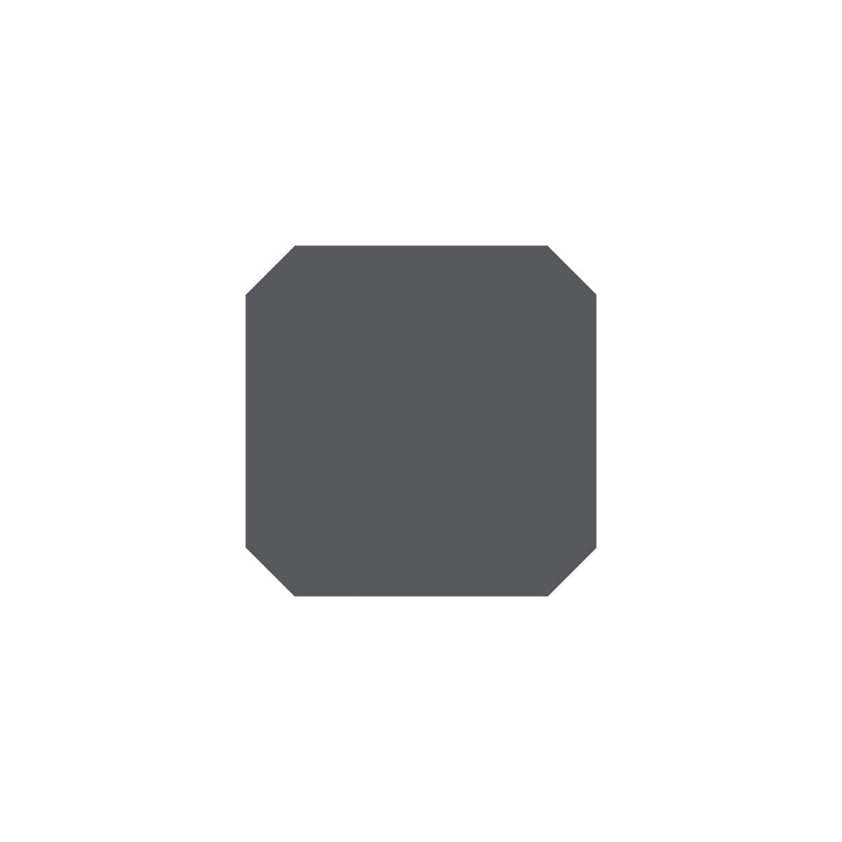 Octogono Carabet Antracita 20x20 - Suelo hidráulico interior y exterior