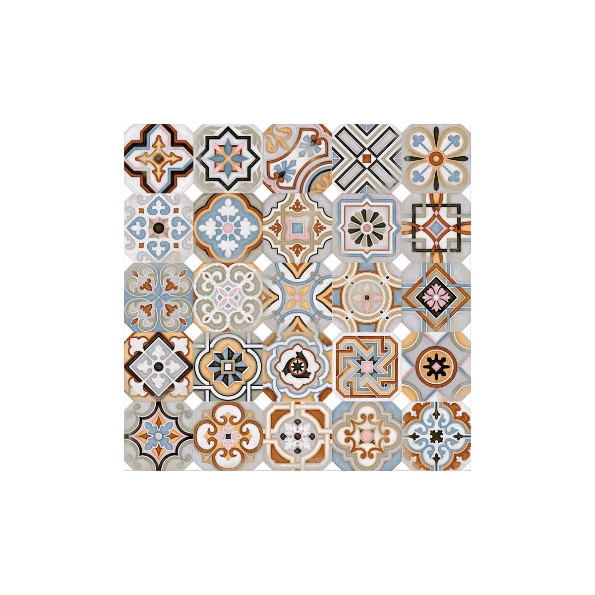 Octógono Musichalls Multicolor 20x20 - Suelo hidráulico Porcelánico antideslizante