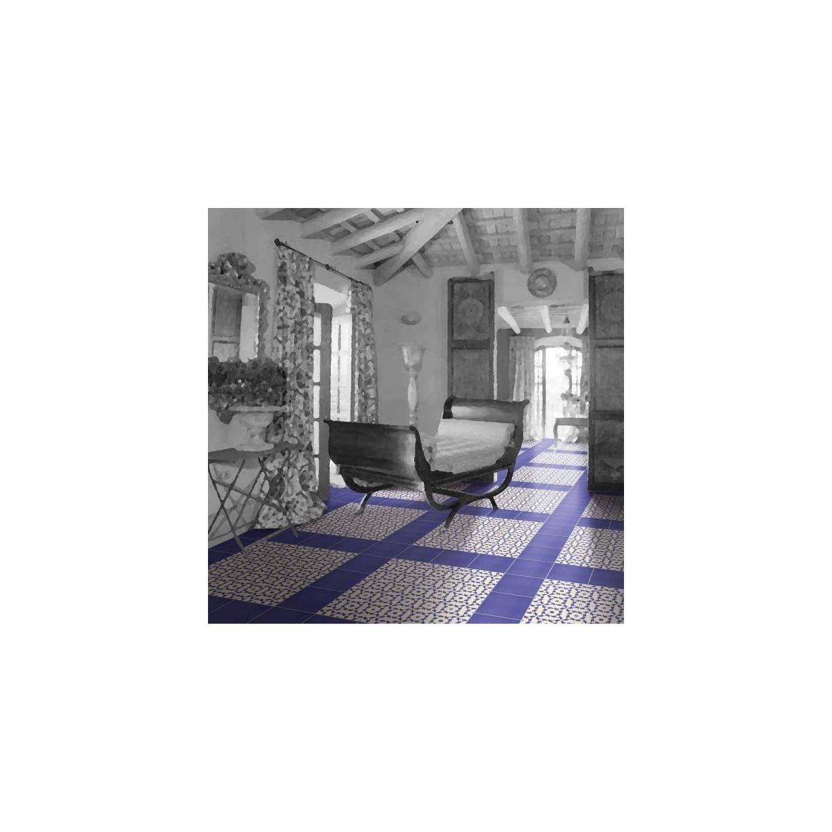Mainzu Victorian Azul Liso 20x20 (m2)