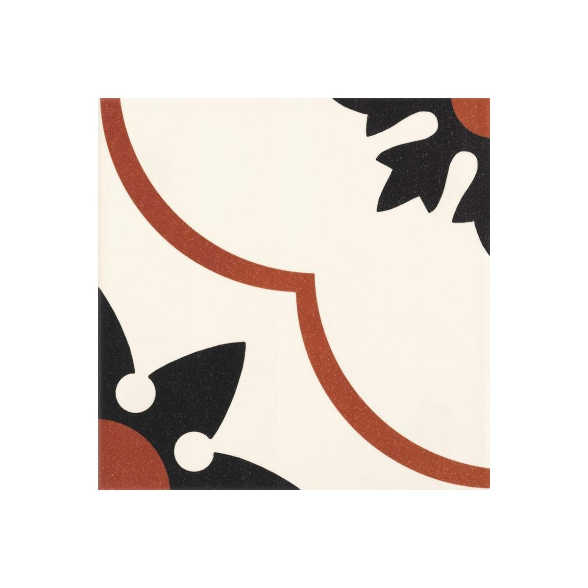 Suelo imitación hidráulico Nantes rojo (m2) baratos