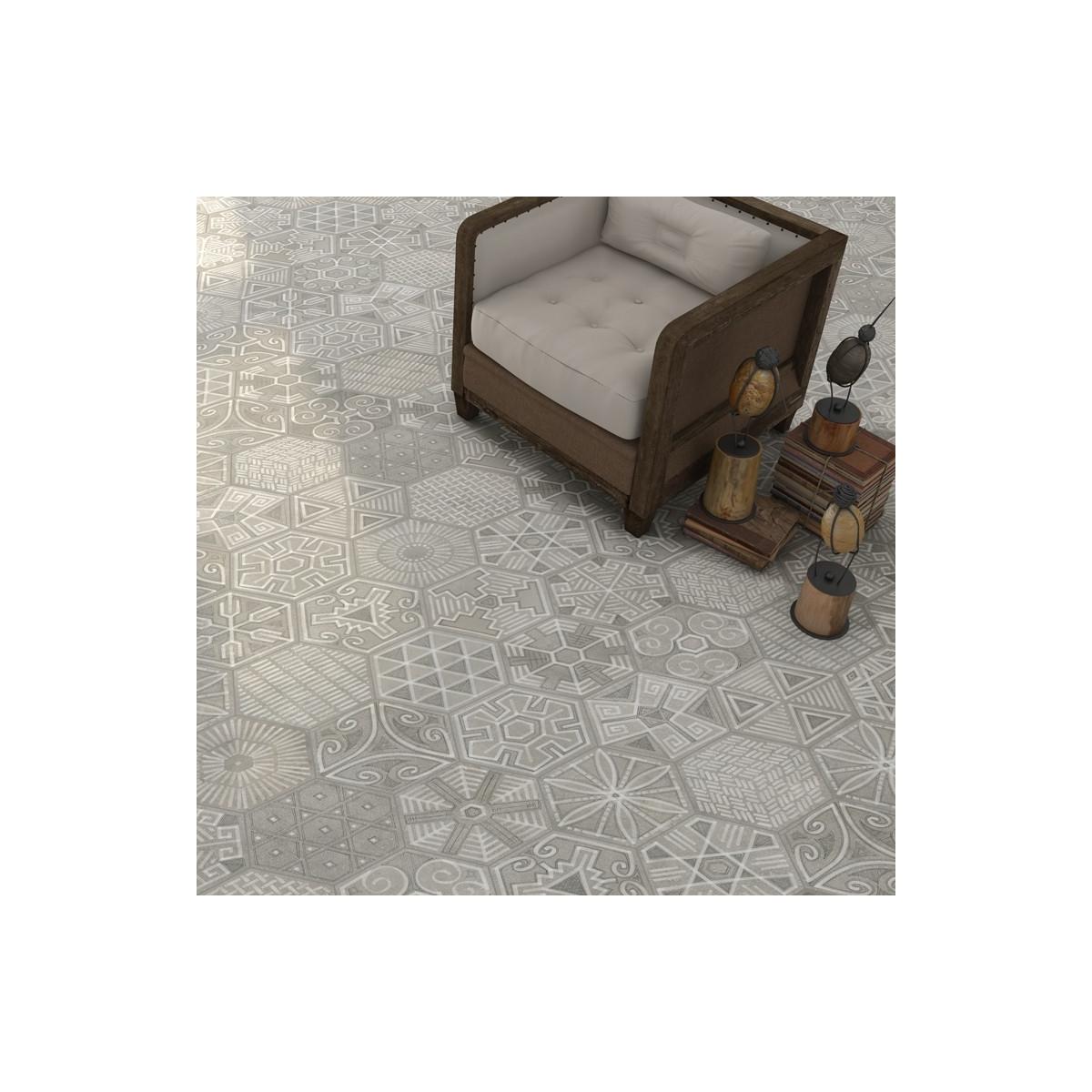 Igneus Cemento Hexagonal (caja 0.5 m2) Vives