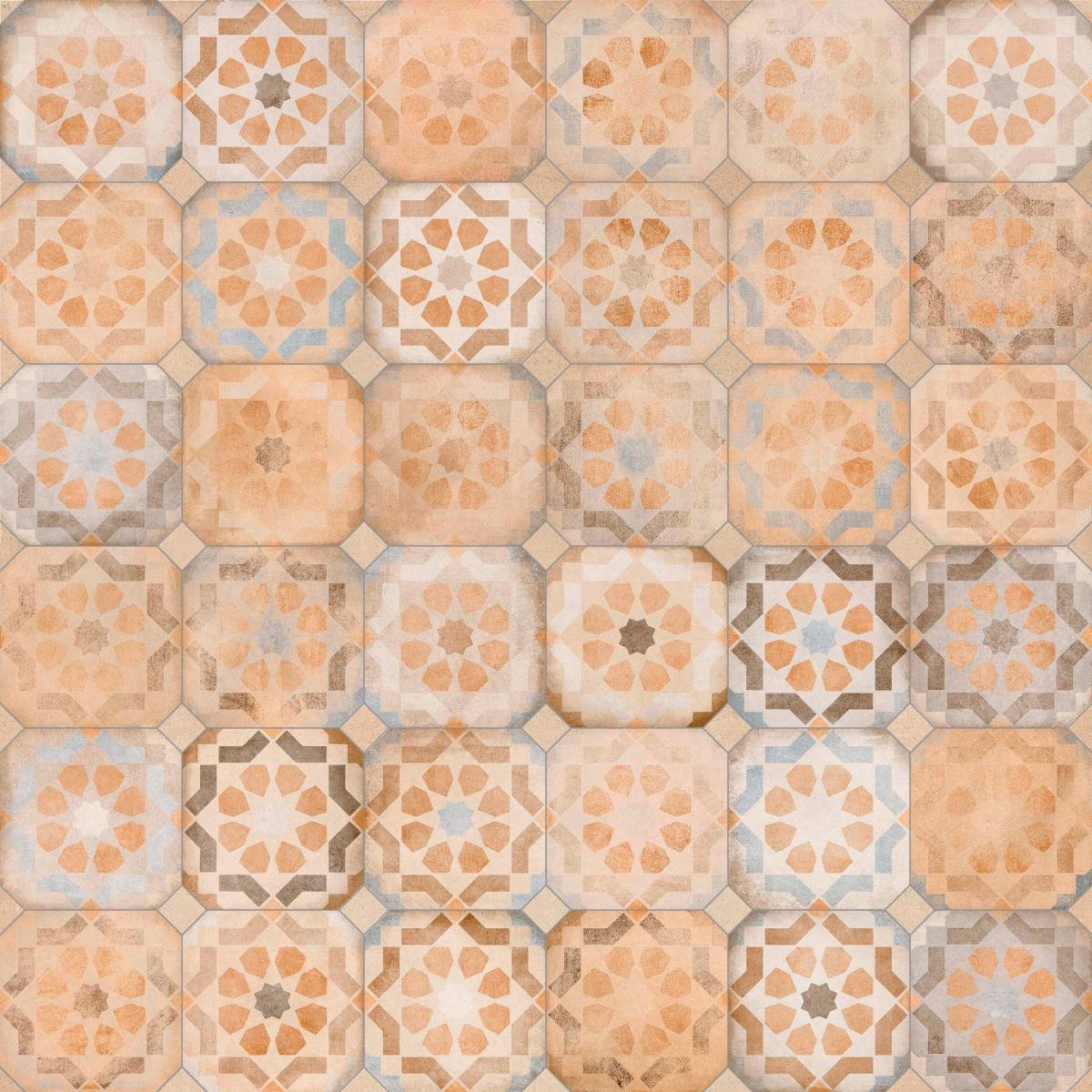 Turgis Multicolor Octogonal Baldosas porcelánicas forma octogonal