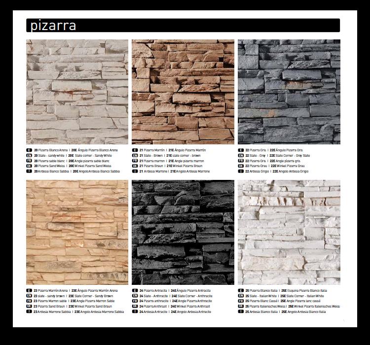 Angulo panel decorativo pizarra - Plaquetas imitacion piedra ...