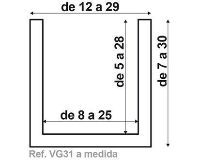 Viga VG31 de fabricación a medida