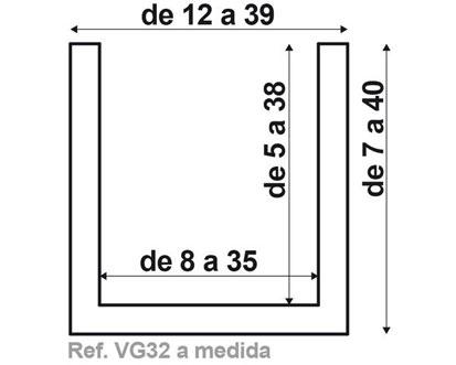 Viga vg32 de fabricación a medida