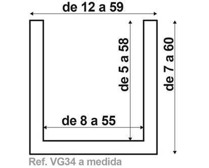 Viga VG34 de fabricación a medida