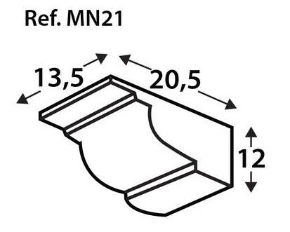 Ménsula imitación a madera MN21