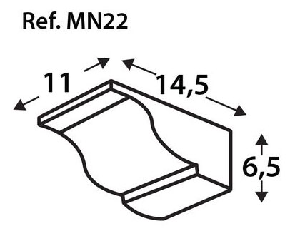 Ménsula imitación a madera MN22