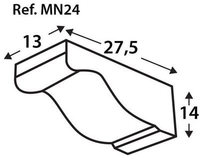 Ménsula imitación a madera MN24