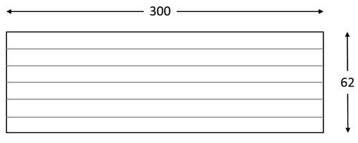 Panel imitación a madera PN10 con seis lamas