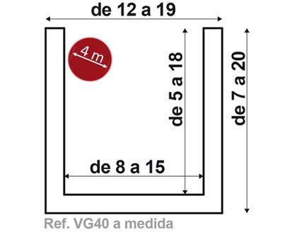 Viga VG40 de 4 metros fabricada a medida