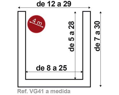 Viga VG41 de 4 metros fabricada a medida