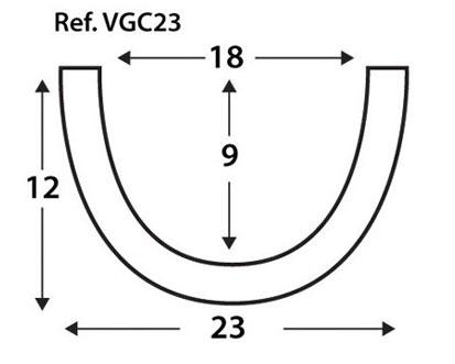 Viga curva VGC23