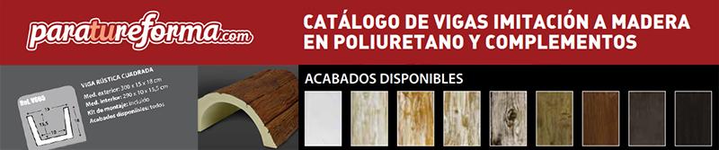Catálogo de vigas imitación a madera