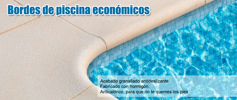 Bordes de piscina econ micos for Piscinas de goma