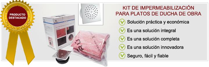 Kit de impermeabilizaci n para plato de ducha - Como hacer una ducha de obra ...