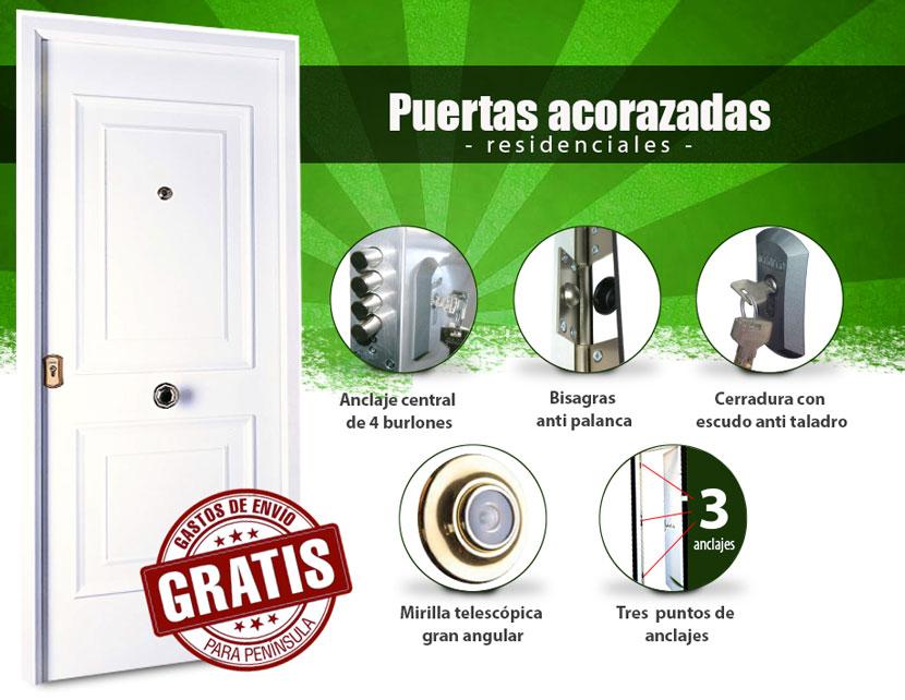 Puertas cearco residenciales acorazadas for Caseton puerta corredera precios