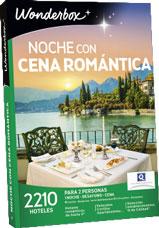 Noche con cena romántica